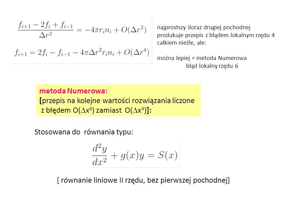 [przepis na kolejne wartości rozwiązania liczone